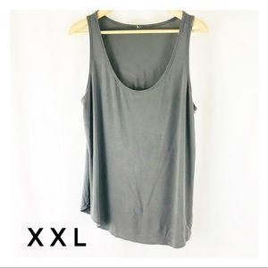 Tops - Women's XXL Plus Size Gray Tank Top Long Solid